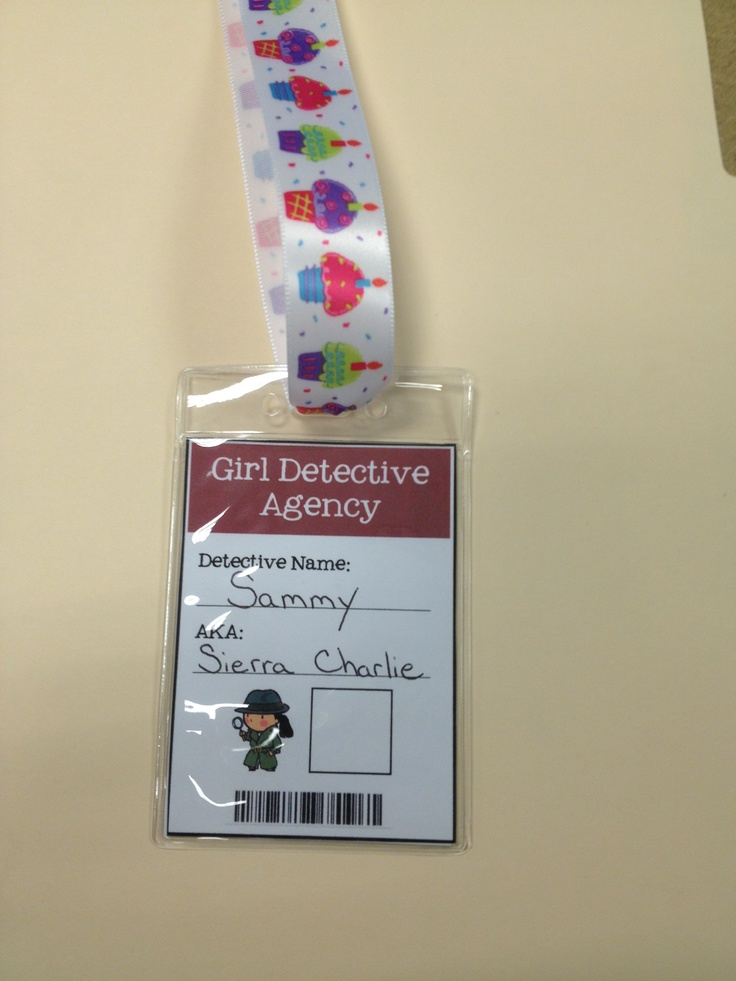 51 best junior detective badge images on pinterest detective girl super slueth girl detective badge 3x2 picture on back finger print in solutioingenieria Choice Image