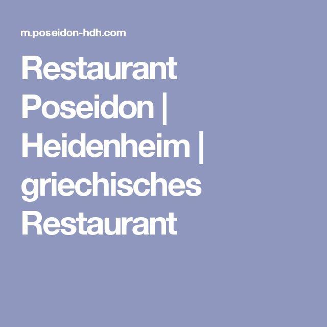 Restaurant Poseidon   Heidenheim   griechisches Restaurant