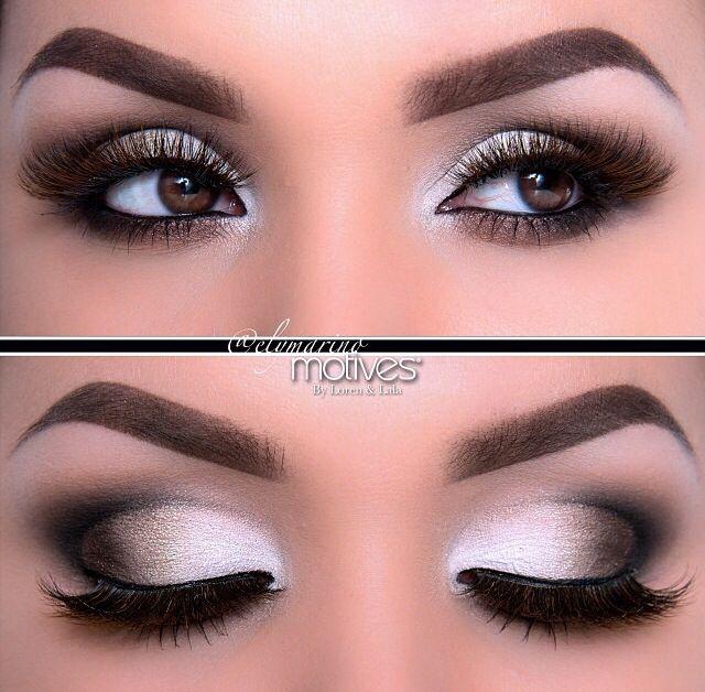 Smokey eye. I always do a bronze or gold smokey eye...need to try a traditional black one!