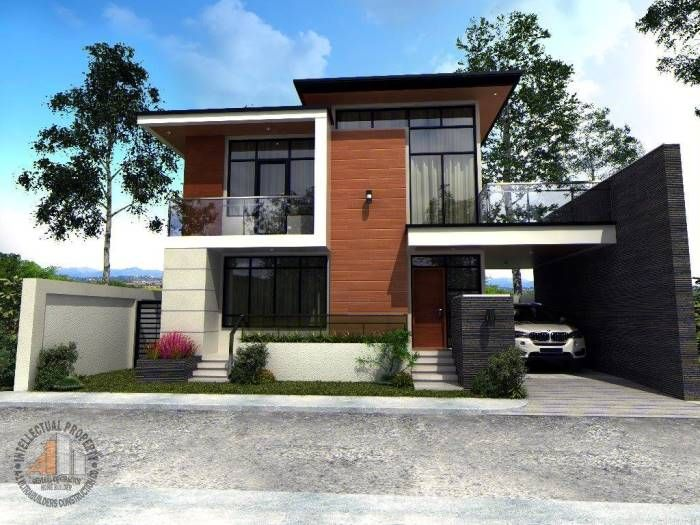Wow Who Could Resist That Jaw Dropping And Stunning Double Storey Modern House House And Deco Two Story House Design Two Storey House 2 Storey House Design House plan double floor