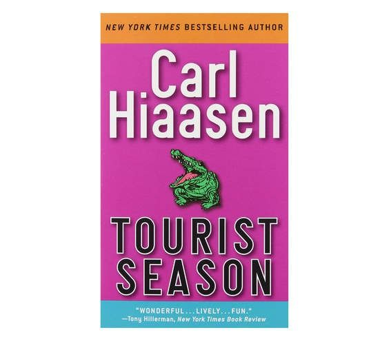 "Tourist Season, by Carl Hiaasen | ""Hiaasen is a South Florida native, and this was the first book he wrote as a solo author. It's fast-paced and has a lot of dark humor. You shake your head at these outrageous things that go on in the novel, and then, a week later, something just like it appears on the news here."""