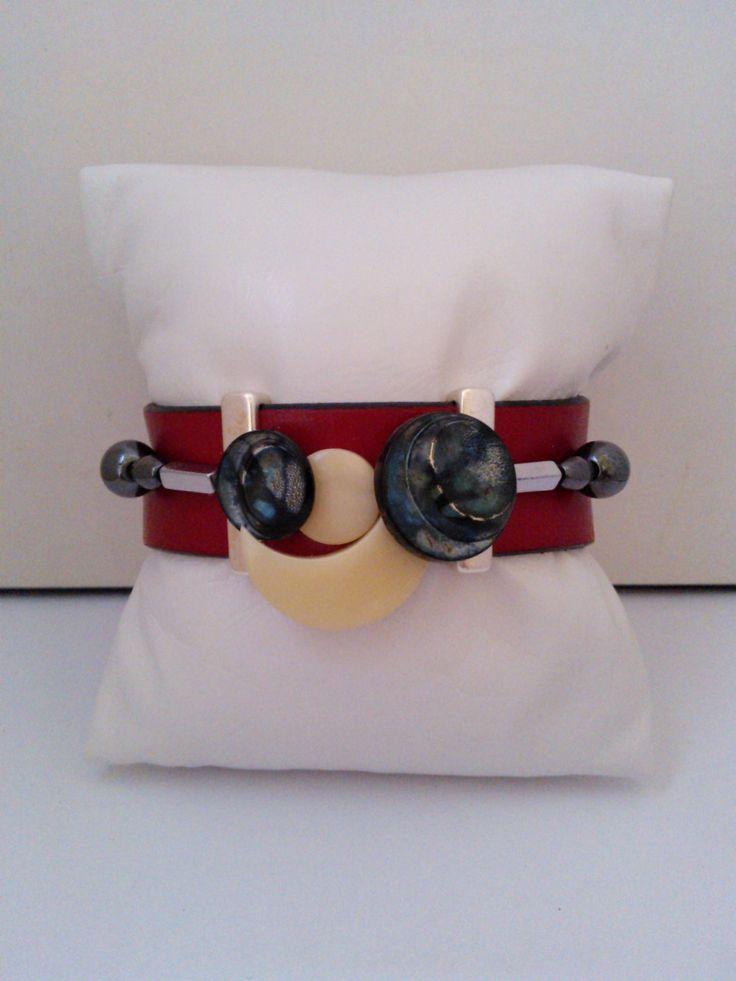 Bracelet 3 rangs,pièce unique et fait main : Bracelet par les-creations-uniques-de-michel-nala