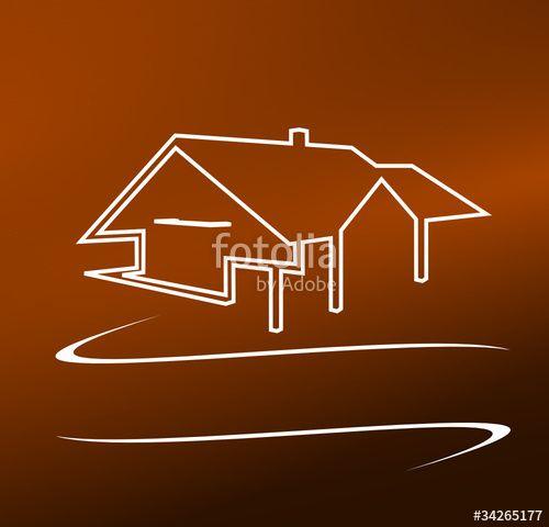 """Téléchargez le fichier vectoriel libre de droits """"logo immobilier villa design"""" créé par ascain64 au meilleur prix sur Fotolia.com. Parcourez notre banque d'images en ligne et trouvez l'illustration parfaite pour vos projets marketing !"""