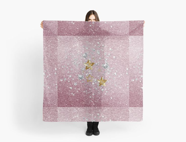 #PinkFauxGlitter #GoldAndSilver #StarsHeartsAndConfetti #Sheer Scarf by #MoonDreamsMusic