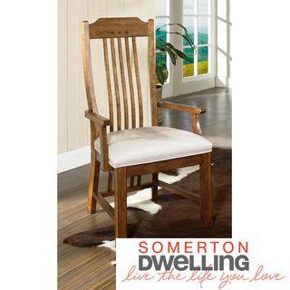 Somerton Dwelling Craftsman Dining Arm Chairs (Set of 2)