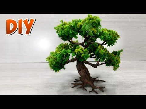 How to make trees for models and dioramas  - YouTube | Model Trees
