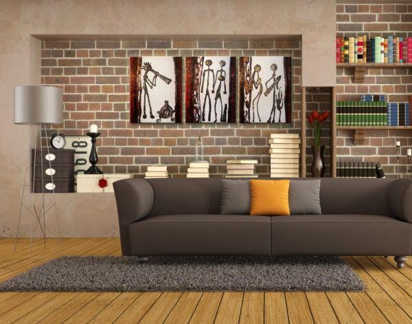 Különleges dekoráció a nappalid falán festett vászonképekkel. #inspiráció #lakásdekoráció #otthon #vászonkép