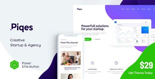 Piqes Creative Startup Agency Wordpress Theme Columns4 Advertising Ancorathemes B Wordpress Theme Web Design Studio Business Wordpress Themes
