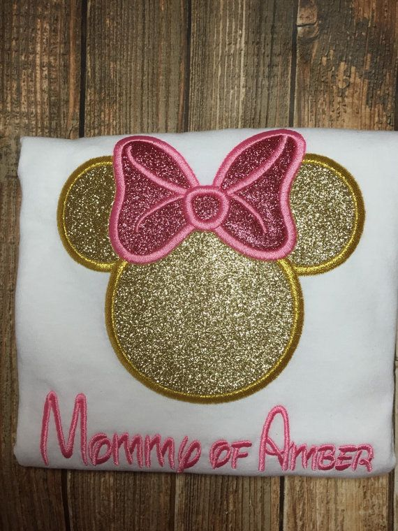 Pink and gold minnie party custom matching by LittleChickiesClips