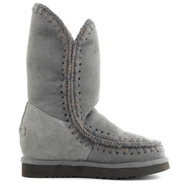 MOU Eskimo Wedge Tall Boots Women Iron - MOU