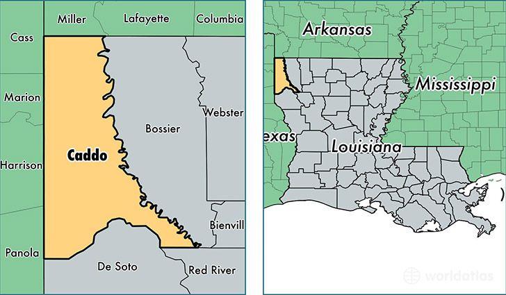 Caddo Parish, Louisiana / Map of Caddo Parish, LA / Where is Caddo ...
