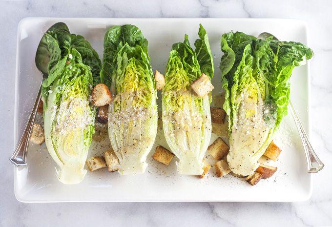 Little Gem Lettuce with House Caesar Dressing