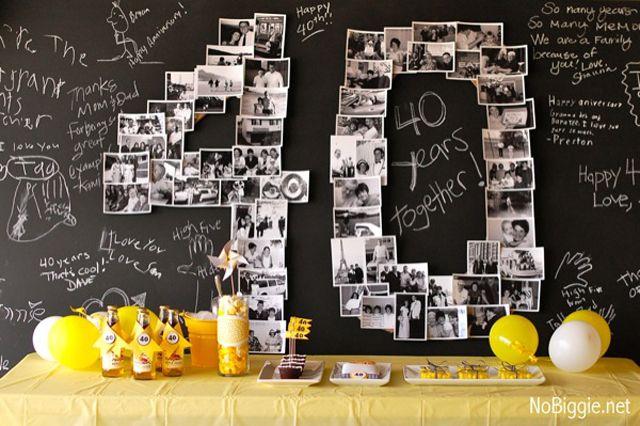 40th wedding anniversary celebration