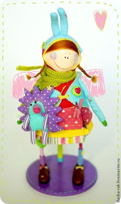 Ангел нежный с ручным другом Ёжиком. Handmade. Peculiar angels by Dasha Rak