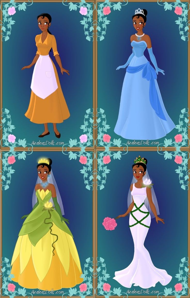 Princess Tiana's Wardrobe by LadyAquanine73551.deviantart.com
