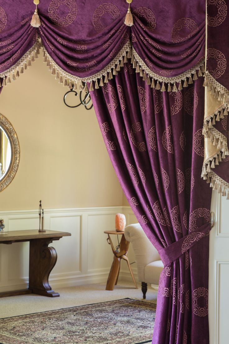 Orchid Imperial Austrian Swag Style Swag Valance Curtain Set  Http://www.celuce