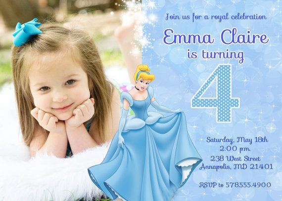 55 best cinderella invitations images on pinterest | cinderella, Birthday invitations