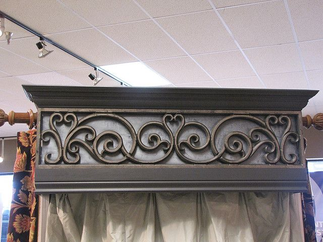 Faux Wrought Iron Cornice Decorative Insert by tvonschimo, via Flickr