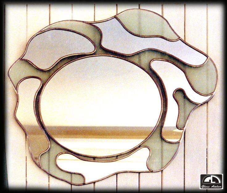 #mirror #lustro #www.glassatelier.pl #witraże #