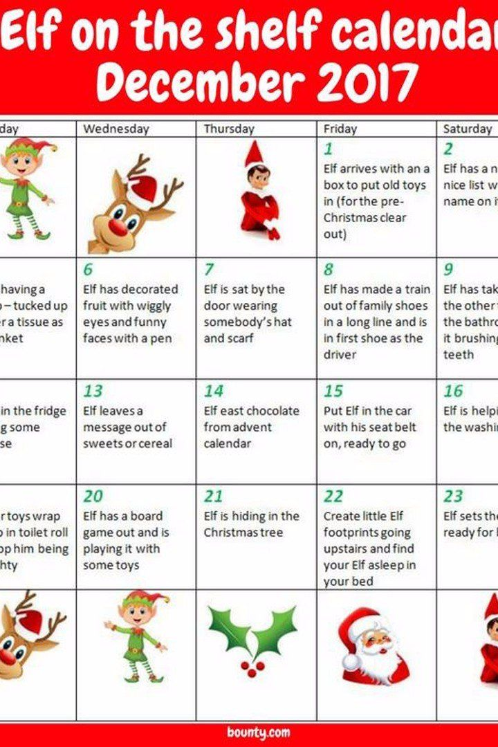 Every Busy Mom Needs to Print Out This Life-Saving Elf on the Shelf Cheat Sheet