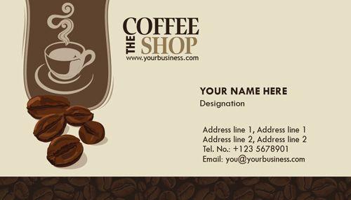 coffee shop Business Cards Coffee Shop, Coffee shop business