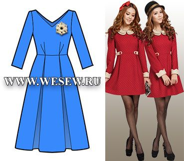 Free womens dress sewing patterns, in russian.