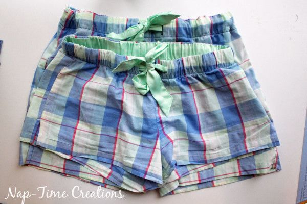Womens PJ shorts free pattern