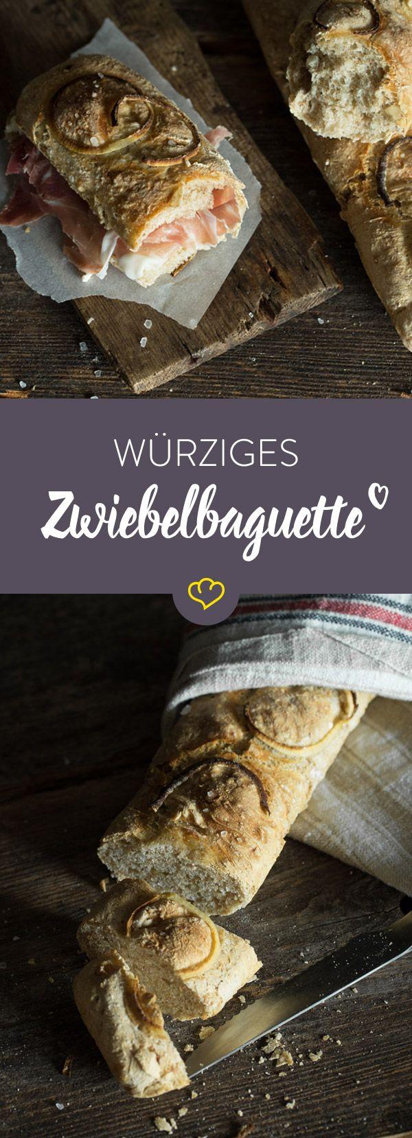 Aromatisch, würzig und ein bisschen süß: Ein Hoch auf den Erfinder des Zwiebelbaguettes! Wir zeigen dir, wie du es mit etwas Geduld selber machen kannst.