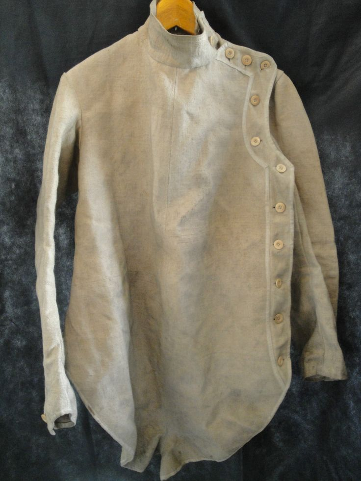 Vtg 1900s 20s French canvas work fencing sports military hunting jacket shirt | eBay