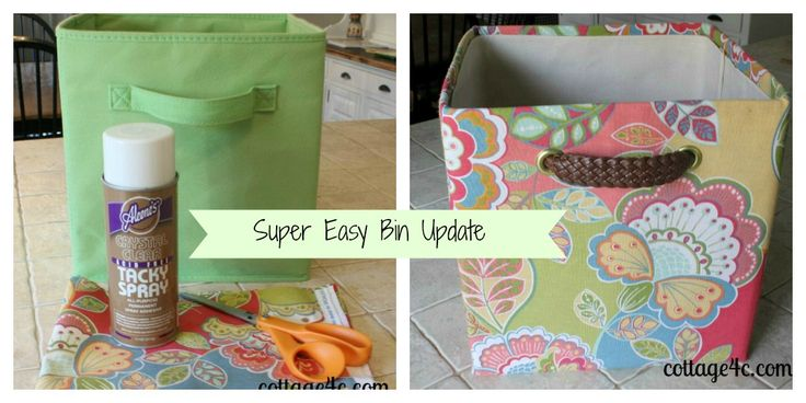 re-cover fabric bins