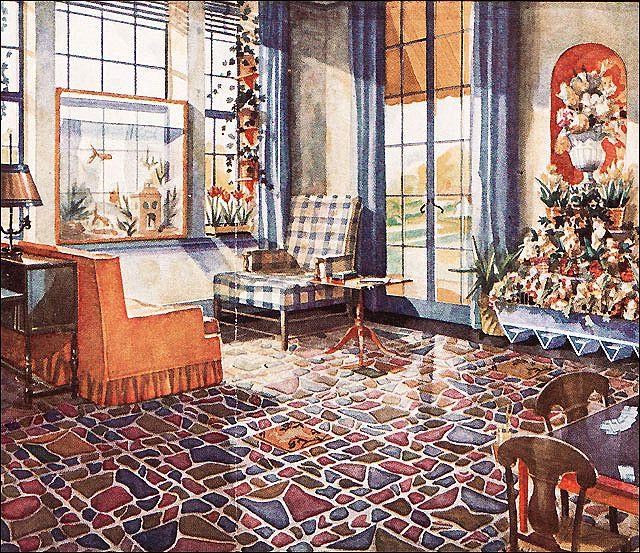 Photo Vintage Home DecorVintage InteriorsVintage HomesRetro VintageDesign HistorySunrooms1930sPatio