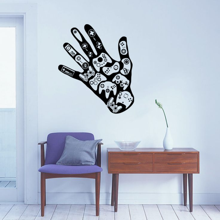Cheap wall decals, Buy Quality boys room directly from China stickers stickers Suppliers: Game Remote Control Hand Play Controller DIY Art Wall Decal Boys Room Bedroom Home Decoration Funny Creative Cute Stickers 45
