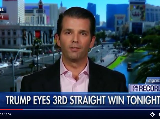 """Donald Trump Jr. said of his father's recent violent threats, """"there's something special about being able to say, 'I want to punch that person in the face.'"""