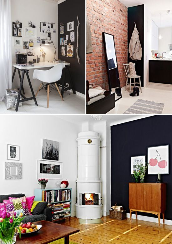 Black accent walls // At Home in Love