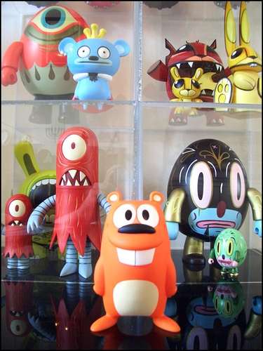 Happy Beaver designed by J Pidgeon    Assorted collectible Vinyl in the background