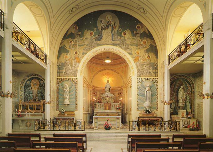@ the National Shrine of Our Lady of Miraculous Medal in Philadelphia    Spirit Singing Chapel at Notre Dame of Rue de bac, Paris , watch slideshow - click for gallery of photos