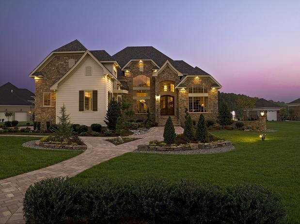 Cohen Homes Model at Dusk