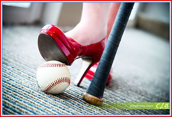 Baseball....most baseball pictures are for Sam and Luke...this one is for me! Love the red patent she!