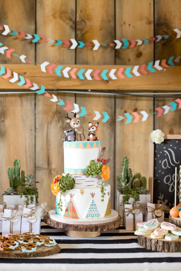 """Chalk this birthday party up under the ahhhdorable category! Krista Lii dreamed up a modern, stylish party for her two little ones based around her family's motto of """"All good things are wild and free"""", and the results are spectacular! Cute"""