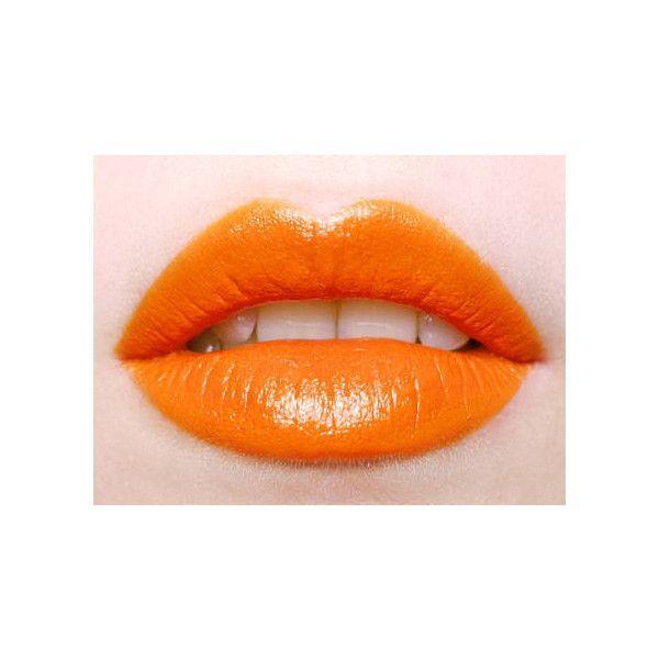 Trend oranje lippen Girlscene ❤ liked on Polyvore