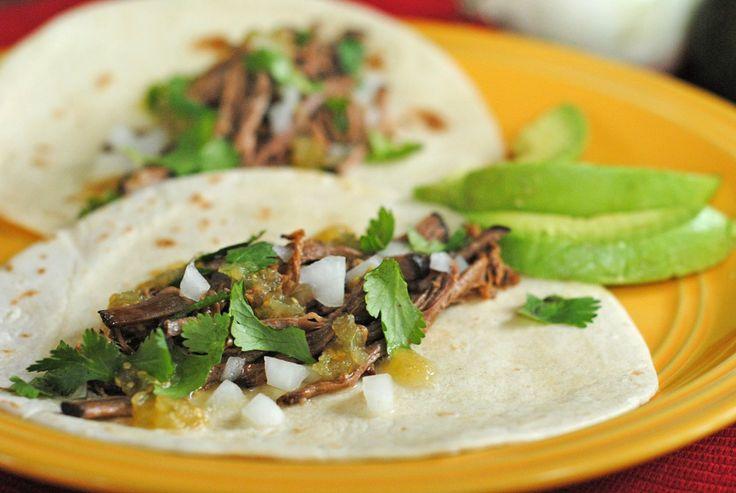 Tacos de Carne Deshebrada {Shredded Brisket Tacos} ~ #MuyBuenoCookbook Spotlight! | Juanita's Cocina