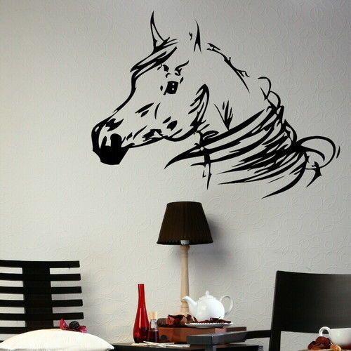 Aliexpress.com: Koop paardenhoofd muursticker thuis sticker vinyl kunst aan de muur sticker behang van betrouwbare wallpaper boek leveranciers op Yan Ding Trade Co., Ltd.
