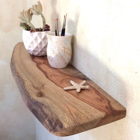 Floating Shelf wood Small Shelf Narrow by GoldenWhistlerWood