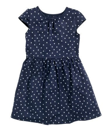 Jersey Dress | Dark blue/hearts | Kids | H&M US