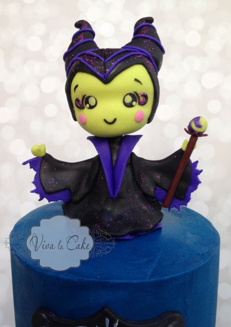 Maleficent Cake Topper Tutorial