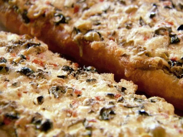 This olive cheese bread recipe makes for a delicious appetizer or mid-day snack!