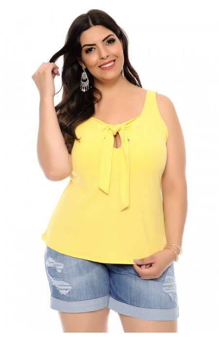 357639eb2e Blusa Plus Size Julia Amarela em 2019