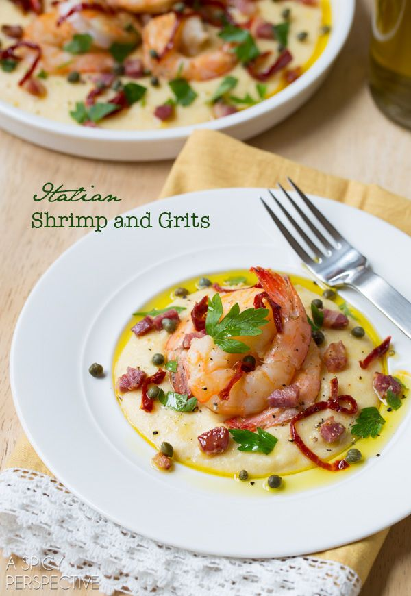 A Spicy Perspective Italian Shrimp and Grits - A Spicy Perspective @spicyperspectiv