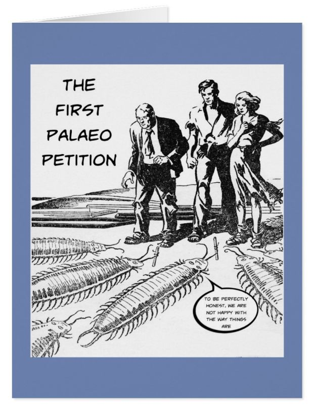 'Palaeo Petition' - Large Greeting Card. A touch of palaeo humour to send to a friend https://www.zazzle.com/palaeo_petition_large_greeting_card-137150279968730191 #palaeontology #palaeo #cards #fossils #humor #humour