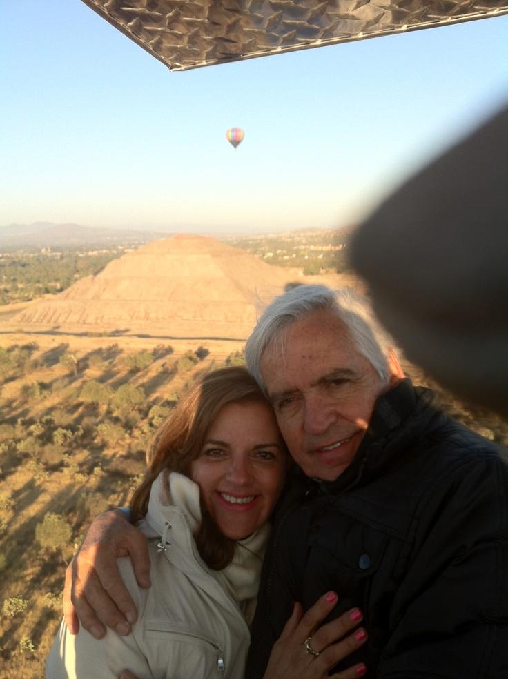 Viaje en globo sobre las Pirámides de Teotihuacan!!!